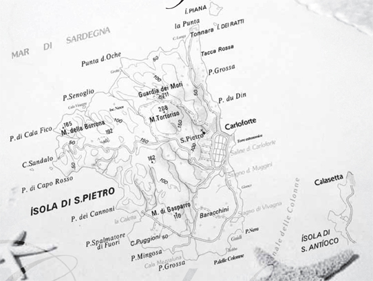 San Pietro Carloforte Map