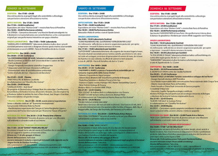 Program Posidonia Festival Santa Margherita Ligure